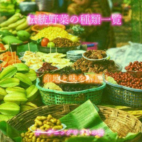 【産地と味を解説!】伝統野菜の種類一覧